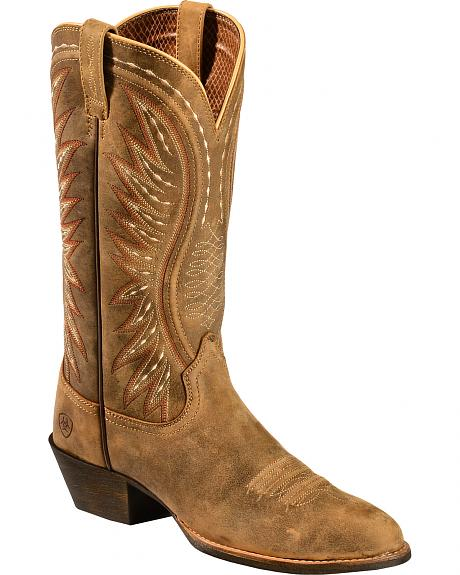 Ariat Brown Bomber Ammorette Cowgirl Boots - Round Toe