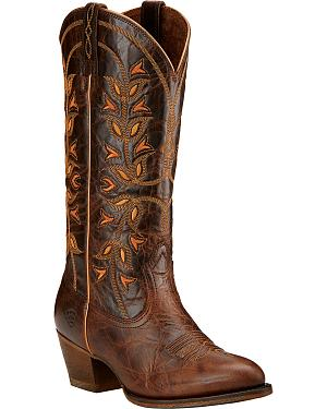 Ariat Desert Holly Chocolate Brown Cowgirl Boots - Round Toe