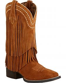 Ariat Fringe Cowgirl Boots - Square Toe