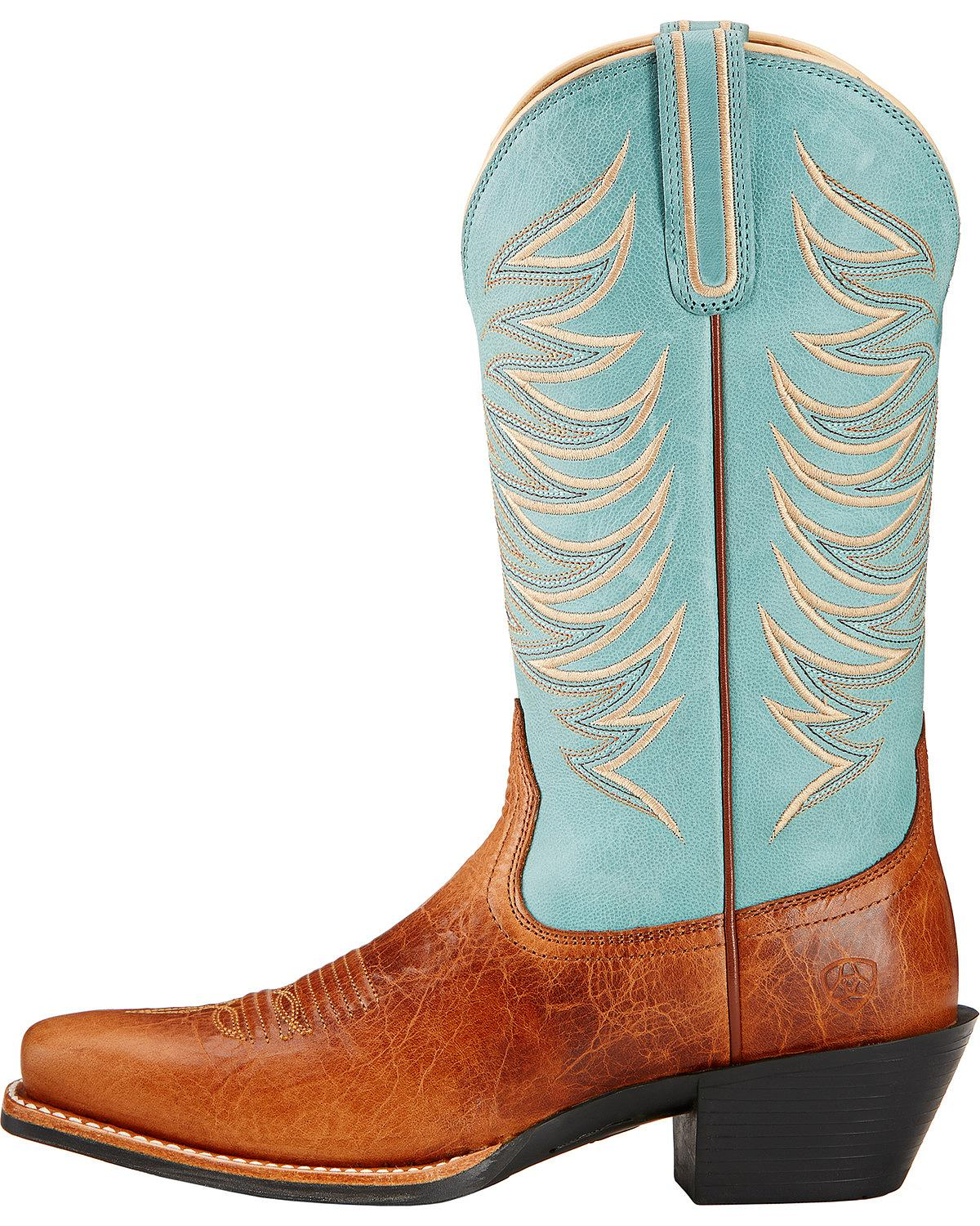 Perfect Ariat Womenu0026#39;s Ranch Ii Cowgirl Boot Square Toe - 10017423