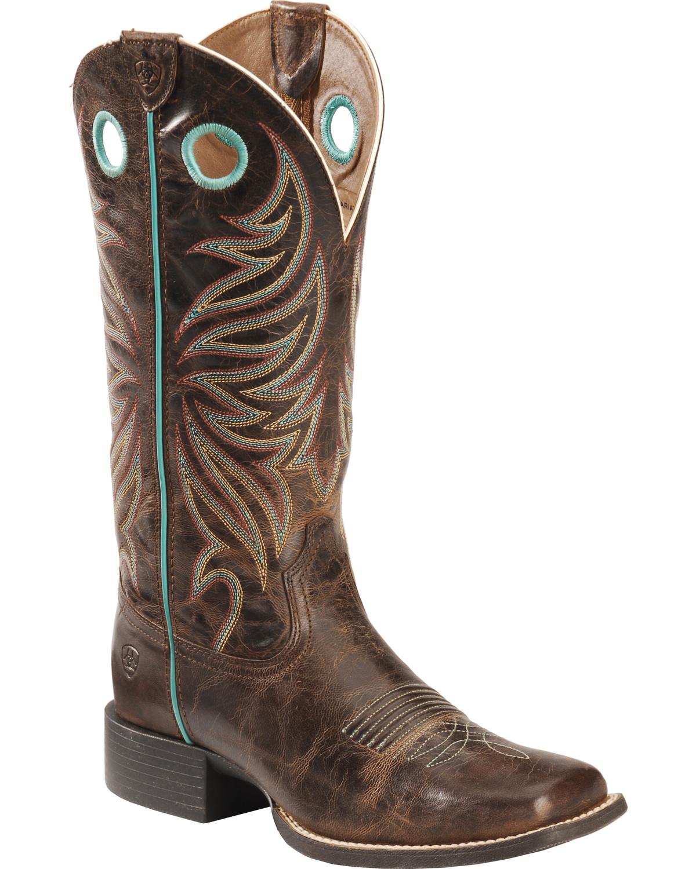 Elegant Ariat Legend Square Toe Boots - Ladies - Boots