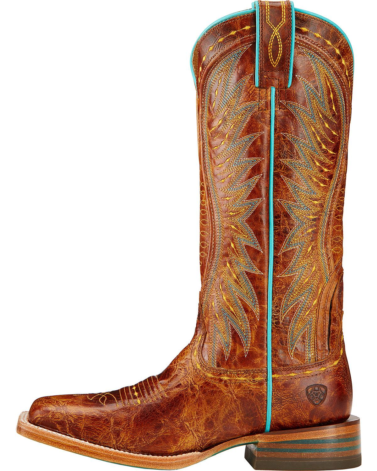 Popular Ariat Womenu0026#39;s Outsider Cowgirl Boot Square Toe - 10017372