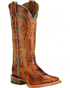 Ariat Vaquera Cowgirl Boots - Square Toe