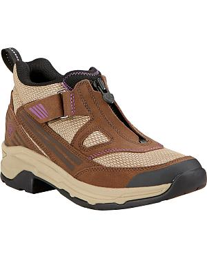Ariat Womens Maxtrax UL Zip Riding Shoes