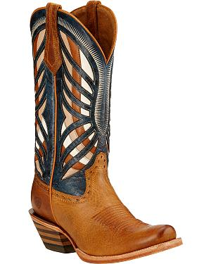 Ariat Gentry Performance Riding Cowgirl Boots - Square Toe