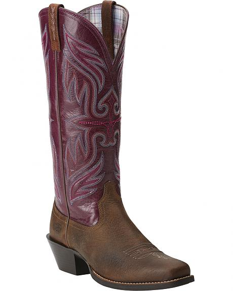Ariat Women's Round Up Buckaroo Cowgirl Boots - Square Toe
