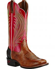Ariat Calypso Coral Catalyst Prime Cowgirl Boots - Square Toe