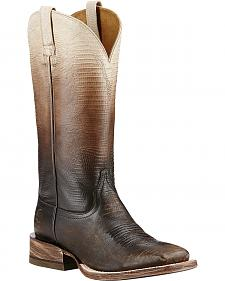 Ariat Ombre Lizard Print Cowgirl Boots - Square Toe