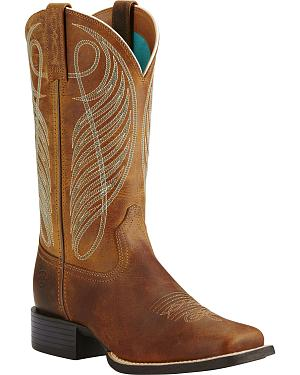 Ariat Womens Round Up Cowgirl Boots - Square Toe
