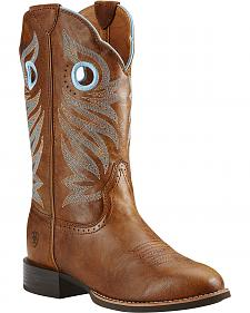 Ariat Round Up Stockman Cowgirl Boots - Round Toe