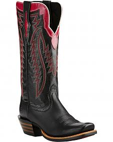 Ariat Raven Black Futurity Performance Cowgirl Boots - Square Toe
