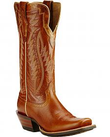 Ariat Acorn Brown Futurity Performance Cowgirl Boots - Square Toe