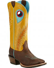 Ariat Mustard Desperado Cowgirl Boots - Square Toe