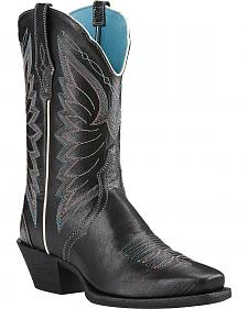 Ariat Old Black Autry Performance Cowgirl Boots - Square Toe