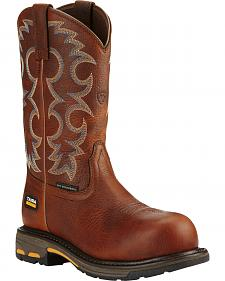 Ariat Women's Brown Workhog Cowgirl Work Boots - Composite Toe