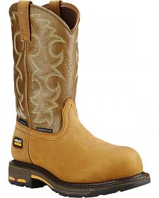 Ariat Women's Tan Workhog H2O Cowgirl Work Boots - Composite Toe