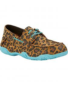 Ariat Women's Caldwell Leopard Print Boat Shoes