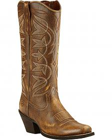 Ariat Vintage Bomber Sheridan Cowgirl Boots - Snip Toe