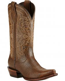 Ariat Alamar Lizard Print Cowgirl Boots - Snip Toe