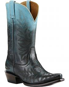 Ariat Blue Ombre Cowgirl Boots - Snip Toe