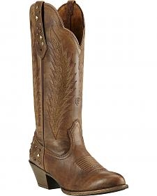 Ariat Dusty Diamond Cowgirl Boots - Round Toe