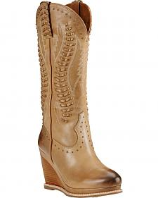 Ariat Burnt Sugar Nashville Wedge Cowgirl Boots - Round Toe