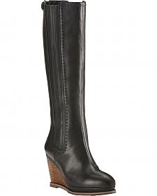 Ariat Black Limousine Ryman Wedge Cowgirl Boots - Round Toe