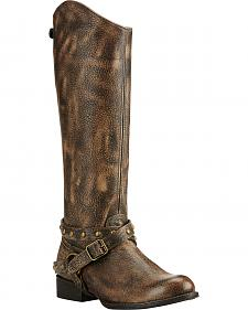 Ariat Brooklyn Brown Manhattan Fashion Cowgirl Boots - Round Toe