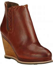 Ariat Women's Cedar Brown Belle Wedge Boots - Round Toe