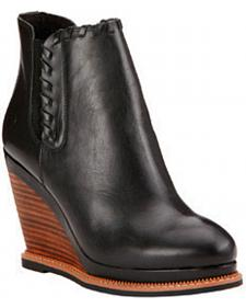 Ariat Women's Limousine Black Belle Wedge Boots - Round Toe