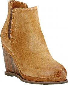 Ariat Women's Soho Sand Belle Wedge Boots - Round Toe