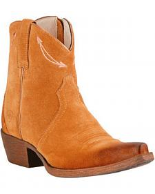 Ariat Driftwood Brown Marilyn Short Cowgirl Boots - Snip Toe