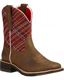Ariat Sunset Brown Rosie Fatbaby Cowgirl Boots - Square Toe