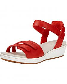Ariat Women's Red Leisure Time Ankle Strap Sandals