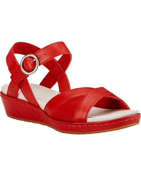 Ariat Women's Red Out & About Strap Sandals