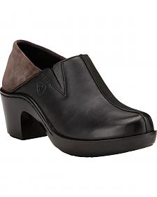 Ariat Women's Black Kickback Clogs
