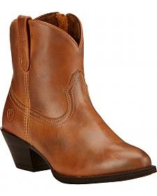 Ariat Women's Brown Darla Booties - Round Toe