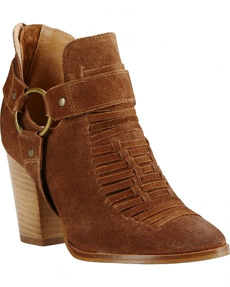 Ariat Women's Brown Unbridled Jaelle Tumbled Booties