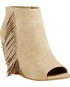 Ariat Women's Taupe Unbridled Jaycee Open Toe Booties