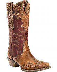 Ariat Brown Zealous Cowgirl Boots - Snip Toe