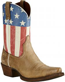 Ariat Old Glory Flag Cowgirl Boots - Snip Toe