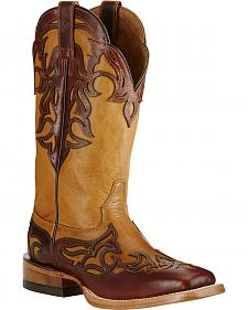 Ariat Biker Brown Women's Performance Cassidy Boots - Wide Square Toe