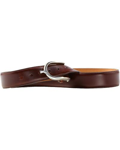 Womens Brown Leather Belt Western & Country A10011987