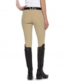 Ariat Women's Performer Low Mid-Rise Zip-Front Full Seat Breeches