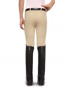 Ariat Girls' Heritage Knee Patch Front Zip Breeches