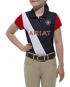 Ariat Girls' Taryn Team Polo
