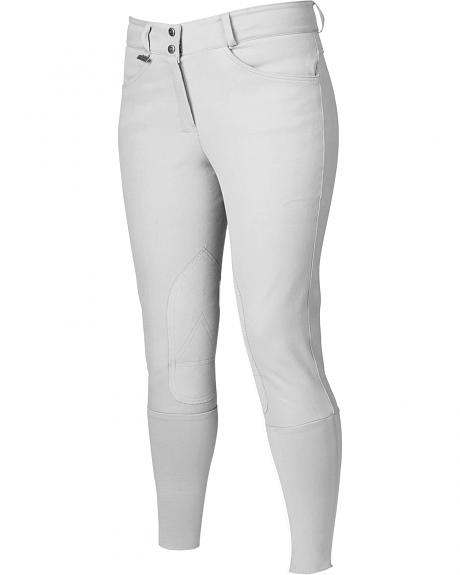 Dublin Active Signature Euro Seat Front Zip Breeches - White