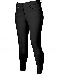 Dublin Active Signature Euro Seat Front Zip Breeches - Black