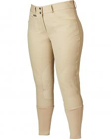 Dublin Women's Active Shapely Euro Seat Front-Zip Breeches