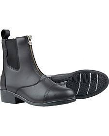 Dublin Apex Zip Paddock Black Equestrian Boots
